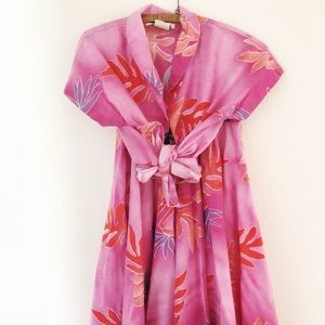 Vintage Hawaiian shirt skirt set XS/S aloha floral